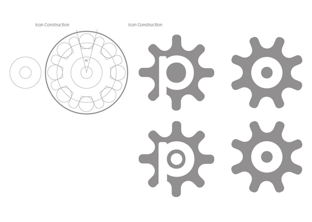 pirum construction, brand creation, Pirum, Form Advertising, logo