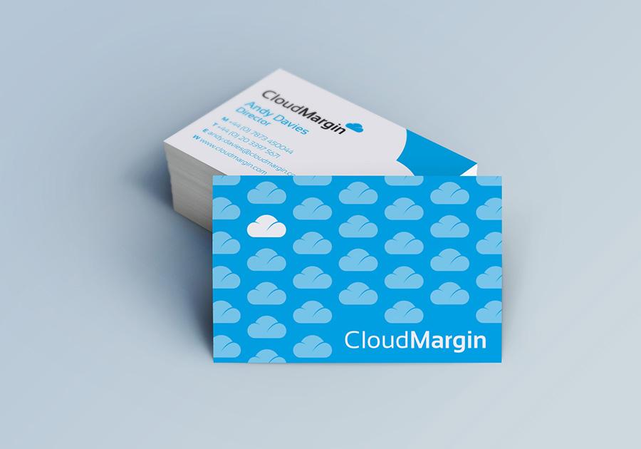 cloud margin cards, brand creation, Form Advertising, logo, CloudMargin, business cards