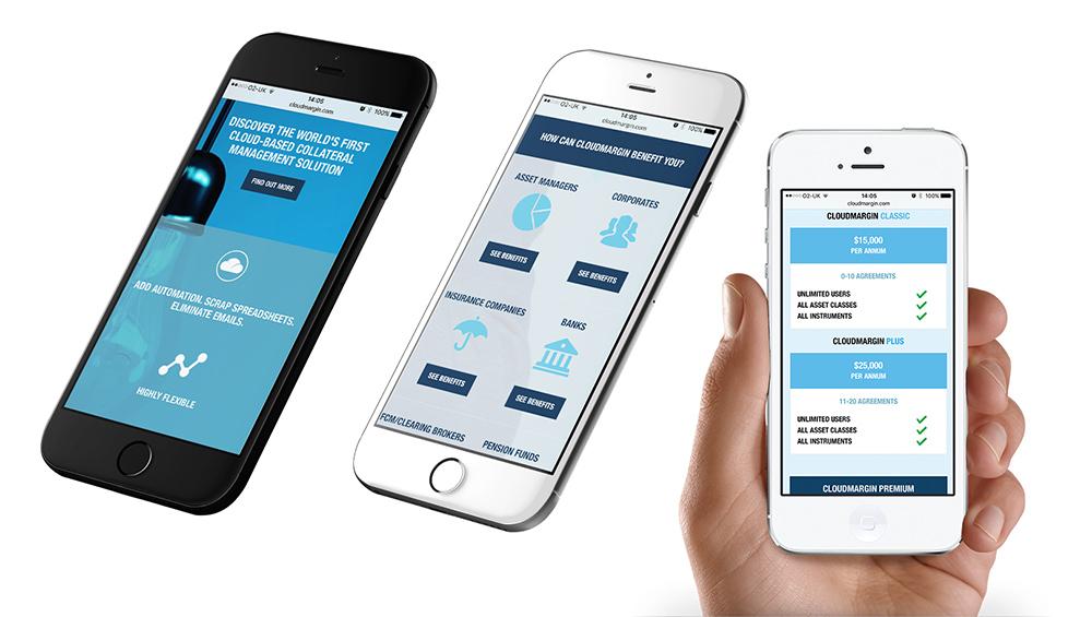 cloudmargin_mobile website, brand creation, Form Advertising, logo, CloudMargin