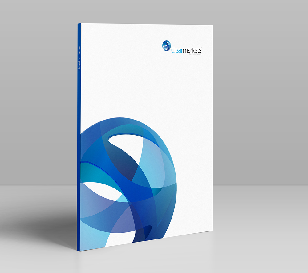 Clearmarkets brochure, print, logo, Clear Markets, new brand identity, Form Advertising, brand creation,