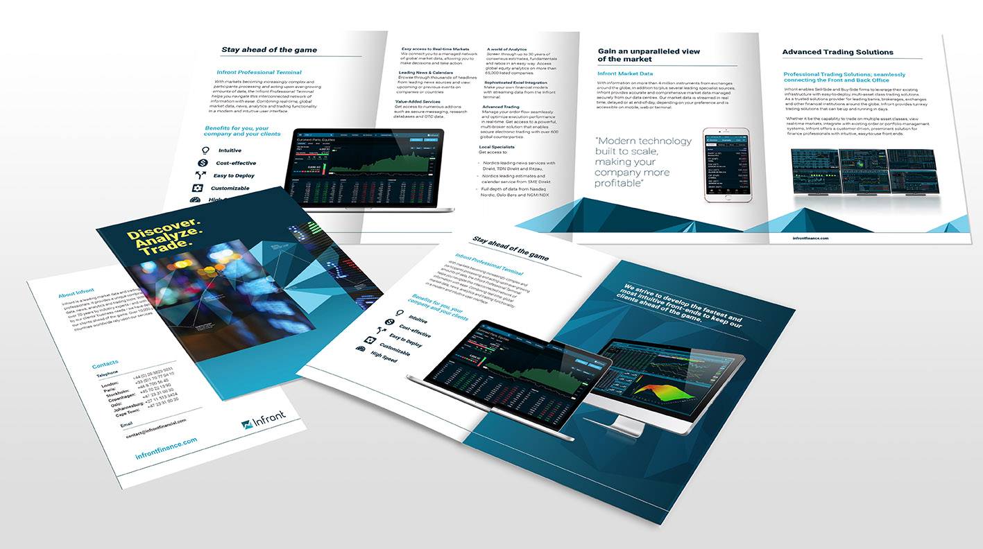 Infront Roll fold collateral design