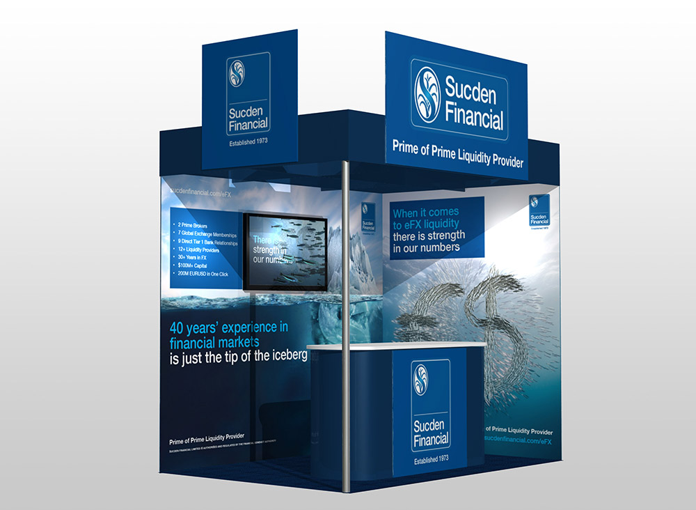 Sucden exhibition stand, Sucden Financial, Form Advertising, brand awareness, advertising, exhibition design