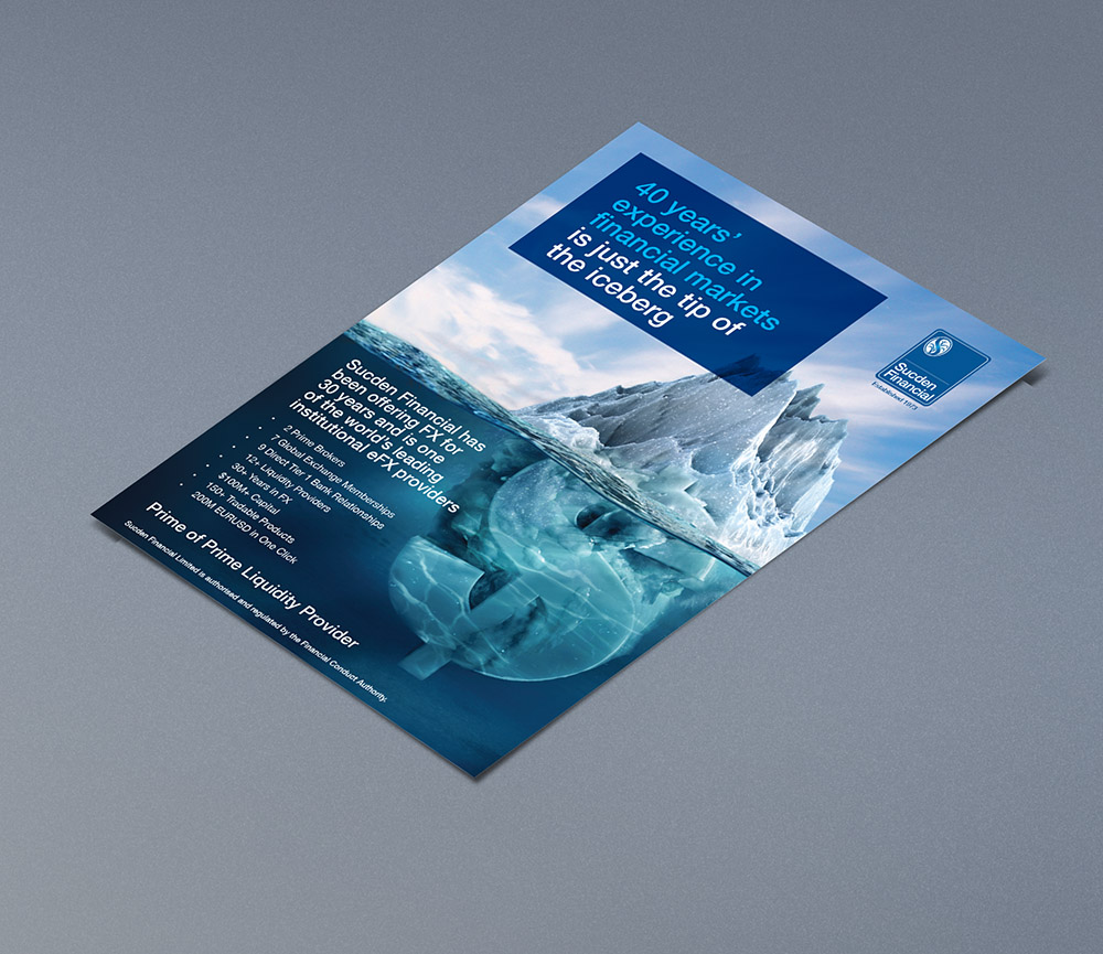 Sucden_advert_iceberg, Sucden Financial, Form Advertising, brand awareness, advertising, poster