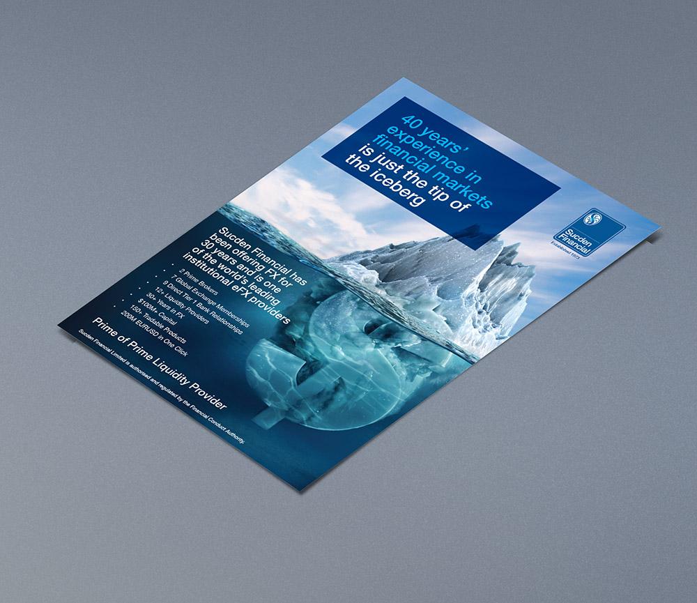 Sucden_advert_iceberg, Sucden Financial, Form Advertising, brand awareness, advertising, poster