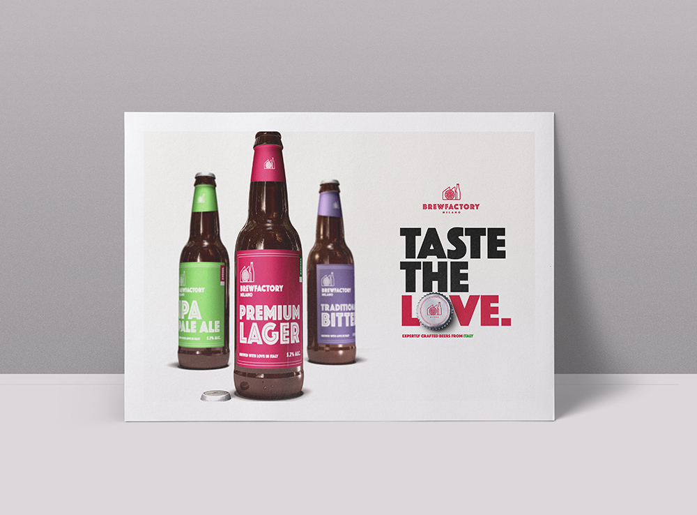 brewfactory poster 2, brew factory, Form Advertising, brand identity, brand creation, brand design