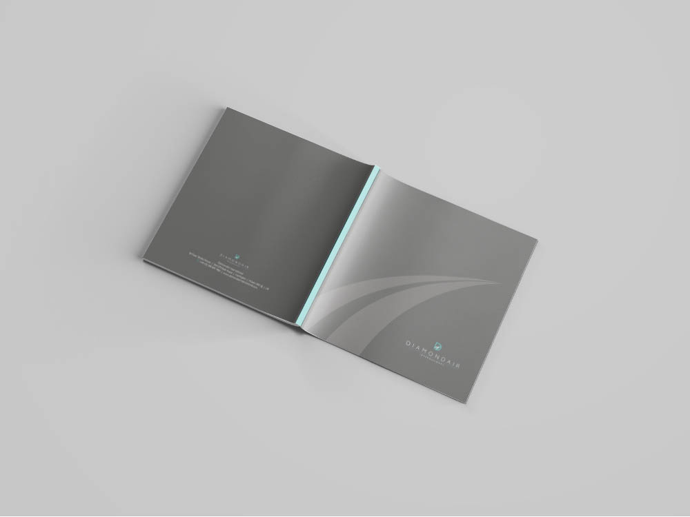 da_open, DiamondAir, logo, new brand design, rebrand, Form Advertising, brochure