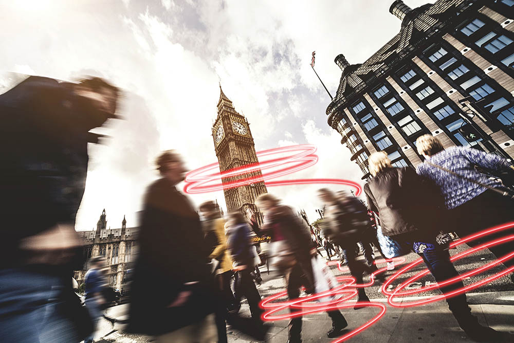 People crossing in Central London, creative services, Form Advertising, design collateral, logo, Experian, web design, web build