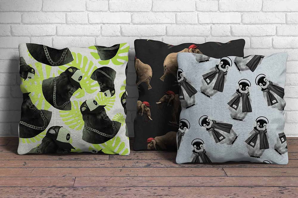 Pillow Mockup-min, It's A WildLife, brand creation, retail brand, Form Advertising