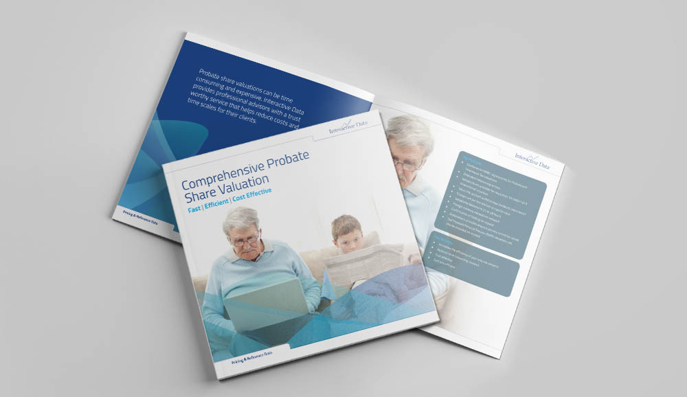 probate brochure, Interactive Data, website design, Form Advertising, brochure