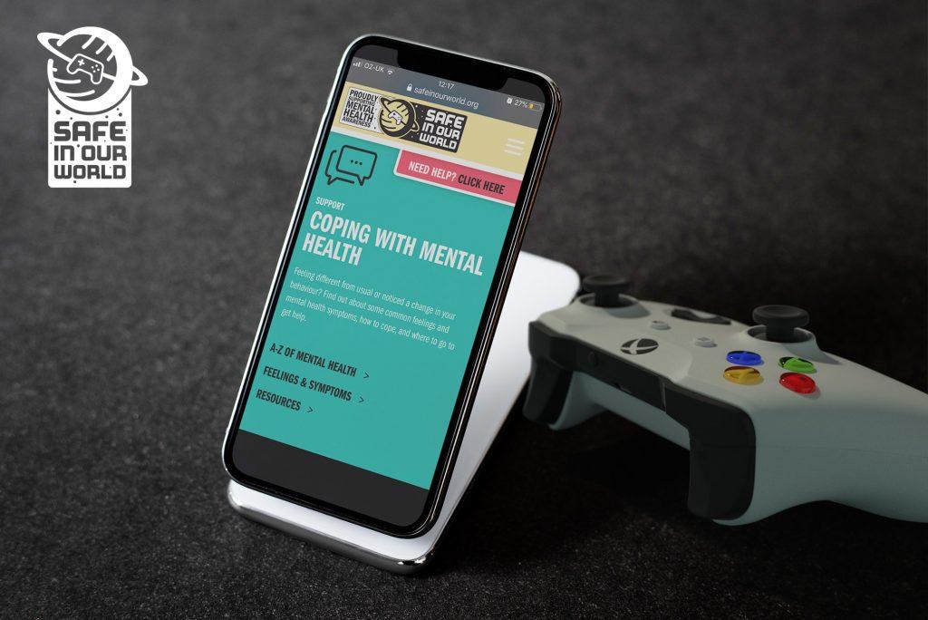 Safe In Our World, mental health, website, website development, Kent design, gaming industry,